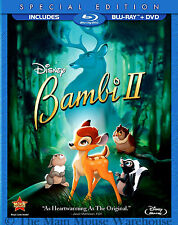 Disney Bambi Sequel 2 II Blu-ray DVD Pack Patrick Stewart Great Prince of Forest