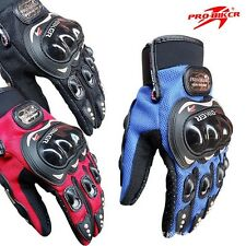Short Summer Hard Knuckle Gloves Men's Cruiser Motorcycle Motorbike Touch Screen