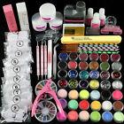 Professional Acrylic Nail Art Full Kit, Powder Primer Tips Practice Tool Set US~