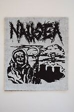 "Nausea Cloth Patch Sew On Badge Punk Rock Antichism Assuck Approx 4""X4"" (CP38)"