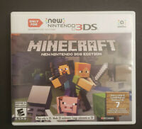 Minecraft New Nintendo 3DS Edition (New Nintendo 3DS, 2017) Complete in Box CIB