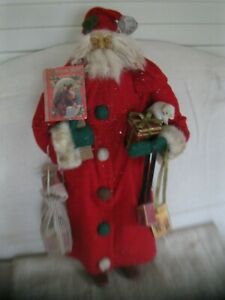 "22"" LARGE GERMAN STYLE CHRISTMAS BELSNICKLE SANTA CLAUS FIGURE"