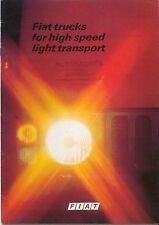 Fiat Light Truck Range NC OM EC Light Truck Original UK Brochure 1970s Pub.3828