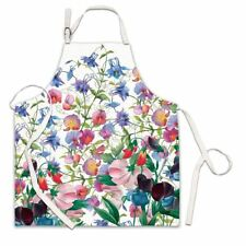 Michel Design Works Cotton Apron Sweet Pea Floral - NEW