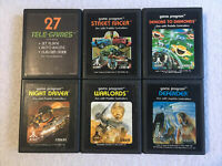 Game Bundle Pack Of 6 Atari 2600 Classic Vintage Games Tested Good Condition 3-5
