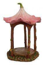 Pink Flower Top Gazebo Miniature Fairy Garden Resin Figurine