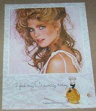 1983 print ad page - Houbigant CHANTILLY perfume - Sexy girl vintage ADVERT