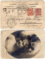 1795 - Regno - Affrancatura mista su cartolina da Bovino (Foggia), 20/04/1902