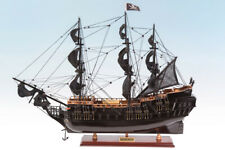 SEACRAFT GALLERY HANDCRAFTED WOODEN MODEL SHIP BOAT BLACK PEARL PIRATE 75CM