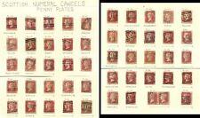Penny reds Ecosse 75 timbres chiffre cachets de la poste
