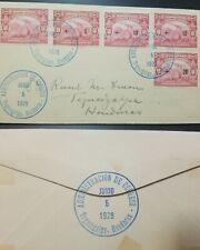 J) 1929 HONDURAS, MONOPLANE AND LISANDRDO GARAY, MULTIPLE STAMPS, AIRMAIL, CIRCU