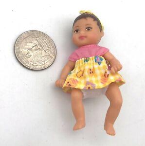 Mattel Barbie Happy Family 1990 Hispanic BABY KRISSY Jointed Mattel Doll HTF