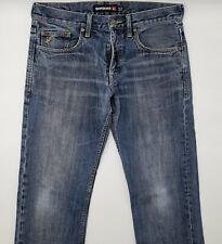 Quiksilver W32 L34 blau Herren Designer Denim Jeans Hose Vintage Mode Retro Men