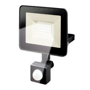 LED Fluter Außenstrahler schwarz 20W 1600lm Tageslicht 6500K 120° Bewegunsmelder