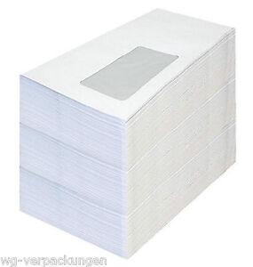 Briefumschlag DIN Lang Umschläge mit oder ohne Fenster weiß-Selbstklebung BU1.1