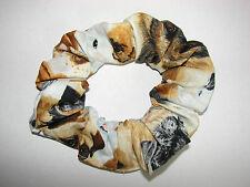 Lg Dogs fabric hair scrunchie-schnauzers retrievers shepherds yorkies beagles