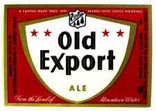 Cumberland Brewing OLD EXPORT ALE beer label MD 7oz  ABW 3.2-7%