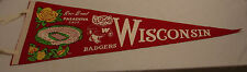 1963 UNIVERSITY OF WISCONSIN ROSE BOWL PENNANT