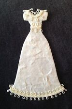 3 Wedding Dress Diecut Handmade Mulberry Paper Formal dress Prom party cards