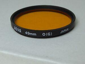 Hoya 49mm 0 (G) Orange  Lens Filter - Used + keeper  lovely condition unmarked