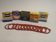 5 NOS Boxes of Red Viceroy Rubber Fruit Jar Rings (12 pk boxes 60 total rings)C4