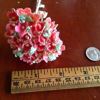 Vintage Millinery Flowers Forget Me Not for Doll Pink or Blue or Yellow Kawaii