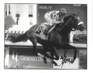 BARBARO 8X10 PHOTO HORSE RACING PICTURE JOCKEY EDGAR PRADO KENTUCKY DERBY B/WHIT