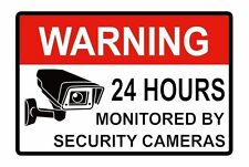 2PCS WARNING SIGNS 24 HOUR VIDEO SURVEILLANCE SECURITY SIGN - CCTV CAMERA SIGN
