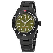 Brooklyn Watch Co. Black Eyed Pea Green Dial Men's Watch 306-D-88-BB-BLK
