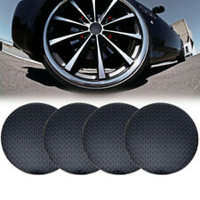 4pc Black Gridding Wheel Center Hub Caps Cover Emblem Badge Sticker Decal 46.5mm