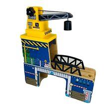 Wooden Train Railway Track Crane Loading Dock Cargo Boxes Thomas Brio Compatible