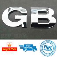 GB Metal 3D Chrome Letters Car Bike Vespa Adhesive Stickers Decals Badge Emblem