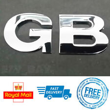 GREAT BRITAIN GB Metal Boot Badge 3D Chrome Letters Car Adhesive Stickers Emblem