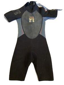 Body Glove Shorty Wetsuit Size 12 2/1 Kids Juniors Black Gray