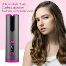 Auto Rotating Ceramic Hair Curler Cordless Hair Waver Curling Iron LCD Sty q2w