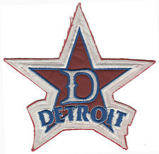 "DETROIT STARS NEGRO LEAGUE BASEBALL 7"" TEAM PATCH VERSION 1 WHITE FELT"