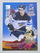 2017 BY cards IIHF WC Scoring Leaders #09 Sebastian Aho #/20