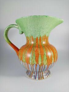 Wade Heath Multi-coloured Drip Glaze Jug - Very Vivid - Art Deco