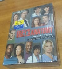 Grey's Anatomy: The Complete Third Season (DVD, 2007) greys 3 tv show series NEW