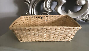 "Small Rectangular Display Gift Storage Woven Bamboo Basket Hamper 10.5"" X 8"""