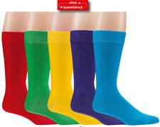 2 Paar Herren-Socken, Trendfarben, mit bequemen Rand