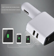 5V 3.1A 3 in 1 Car Charger with Dual USB Hub Ports and 1 Way Cigarette Socket