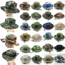 Tactical Boonie Hat Military Camouflage Bucket Wide Brim Sun Fishing Cap Sun Hat