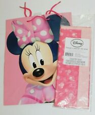 Minnie Mouse Birthday Gift Bag & Matching Tissue Paper
