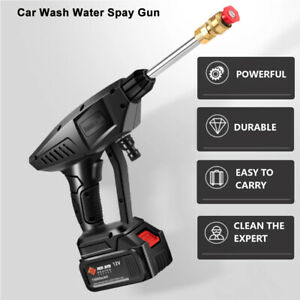 25V Electric Rechargable Car Wash Hose Set High Pressure Watering Gun Wireless
