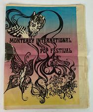 original 1967 Monterey Pop Festival Newspaper Program Jimi Hendrix Otis Reading