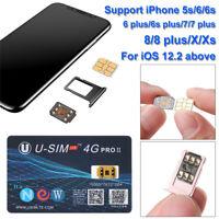 U-SIM4G PRO II Unlock Turbo SIM Card Nano-SIM For iOS 12 13 iPhone X XR XS Max