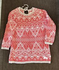 Odd Molly Aztec Pink Long Lenght Tunic Jumper Size 2(M)Net A Porter