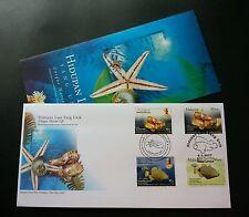 Unique Marine Life Malaysia Brunei 2006 2007 Fish (joint FDC) *dual cancel *rare