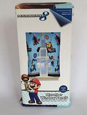 New Mario Brothers Window Panels Curtains Mariokart Microfiber Boy Blue Bedroom